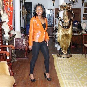 New Lafayette 148 NY patent leather jacket coat s